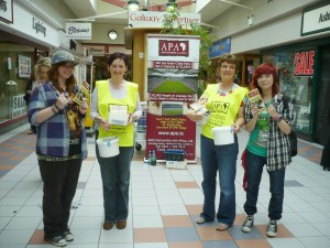 21 At Galway  Shopping Centre - friends and supporters rally round